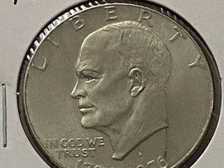 1776 1976 Eisenhower One Dollar Coin