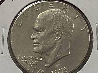 1776 1976 D Eisenhower One Dollar Coin