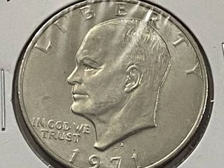 1971 D Eisenhower One Dollar Coin