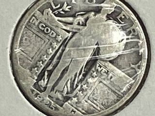 1925 liberty Silver Quarter Dollar