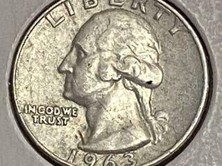 1963 Washington Quarter Dollar