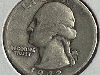 1942 Washington Quarter Dollar