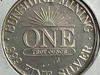 Sunshine Mining   1 Troy Ounce Fine Silver Coin