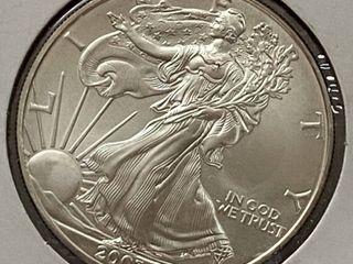 2003 Silver Eagle Dollar   1 oz of  999 fine Silver