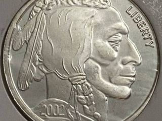 2002 liberty   1 Troy Ounce Fine Silver Coin