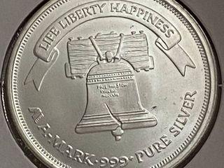 A Mark   1 Troy Ounce Fine Silver Coin
