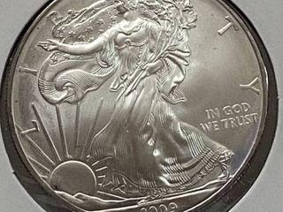 2009 Silver Eagle Dollar   1 oz of  999 fine Silver