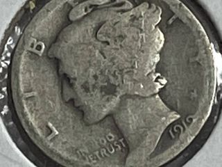 1919 Silver Mercury Dime