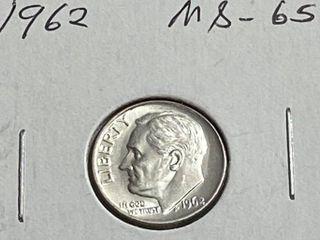 1962 Roosevelt Dime