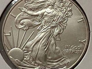 2011 Silver Eagle Dollar   1 oz of  999 fine Silver