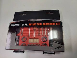 64 Piece Rotary Tool Accessory Kit  1 4 Inch Collet Size  With Hard Case