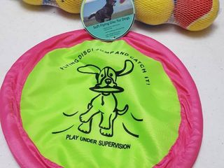Pet balls and soft flying disc