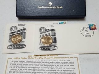 Golden Dollar first day issue commemorative set