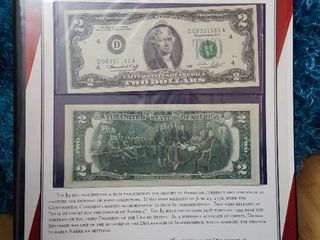 2   2 Bills  American bicentennial commemorative collection