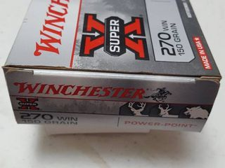 20 ct  270 WIN bullets  Winchester