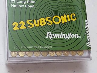100 ct   22 lR Hollow point bullets
