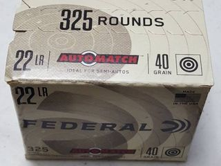 325 rounds  Federal  22 lR