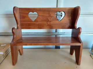 Wooden Doll Bench