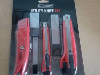 33 Pc Utility Knife Set   3 Knives and 10 Replacement Blades for Each