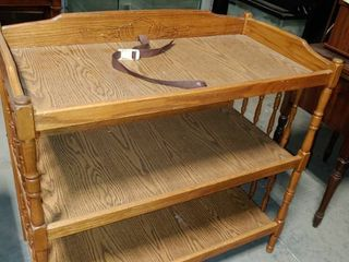 Wooden 3 Tiered Baby Changing Station   20  x 38  x 38