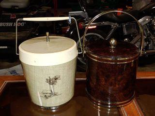 lot of 2 Mid Century Modern Ice Buckets   Shelton Ware