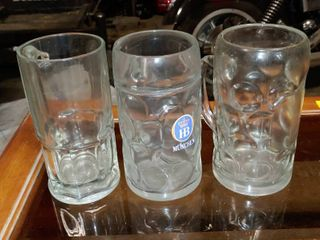 lot of 3 large Beer Steins   8  Tall