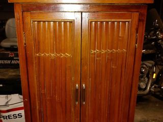 Tropical Themed Small Storage Cabinet   29  T x 18 5  W x 7  l