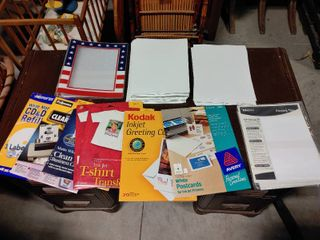 large lot of Assorted Paper Products   Standard Printer Paper  Glossy Photo Paper  T Shirt Transfers   More