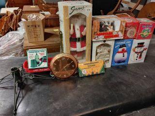 large lot of Christmas Decor Items   Santa   28  Tall
