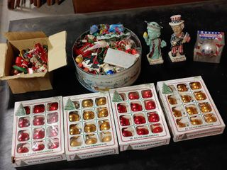 large lot of Christmas Ornaments   2 Patriotic Bobbleheads