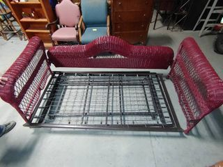 Trundle Day Twin Size Wicker Dual Bed