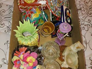 large lot of Tropical Themed Decor Items  2