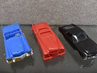 Vintage lot of 3 Car Collection Plastic and Model Cars   Unknown Makers   6