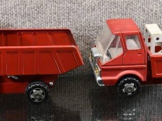 Vintage lot of 3 Tuff Dump Truck   Wrecker Truck   Tuff   Steel   7 8