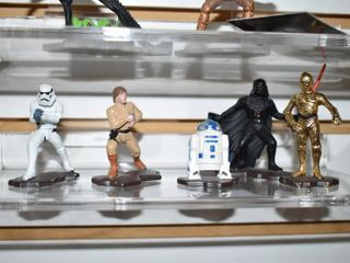 Vintage lot of 5 Action Masters Star Wars Storm Trooper  luke  Darth Vader  R2 D2   C 3PO   Kenner Toy Company