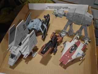 Vintage lot of 5 Star Wars Action Fleet   Tonka Corp
