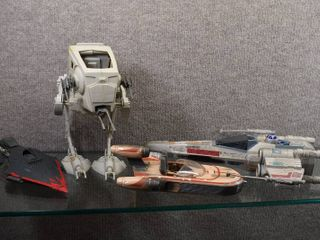 Vintage lot of 4 Star Wars Action Fleet   Tonka Corp