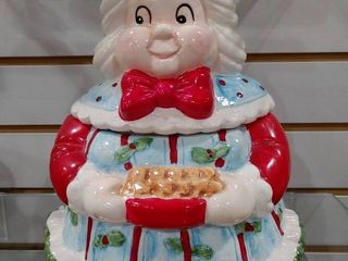 Vintage Christmas Ms Claus Cookie Jar   Hobby lobby   10