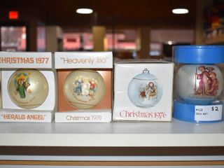 Vintage lot of 4 Schmid Christmas Ornament 1976  1977  1978   1974   Schmid   Authentic Works By Berta Hummel
