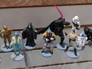 Vintage lot of 14 Star War Figures 1995 1997   Made by Applause   Yoda  Darth Vader etc    Various sizes 2    6