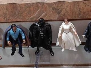 Vintage lot of 9 Star War Figures 1977 1983   Kenner   Darth Vader  Chewbacca etc    4  Tall