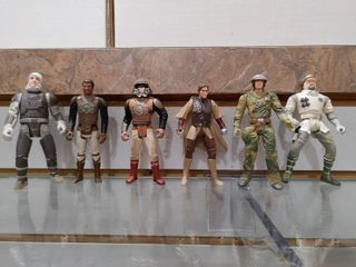 Vintage lot of 6 Star Wars Figures Rebel Soldiers 1996   Kenner   4