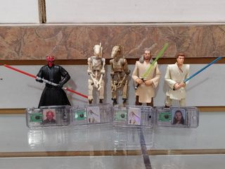 Vintage lot of 7 Star Wars Figures Episode 1 Characters   Kenner   4