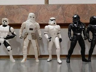Vintage lot of 6 Star Wars Figures Stormtroopers   Darth Vader   Kenner   4