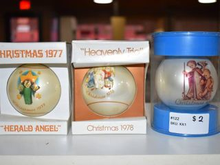 Vintage lot of 3 Schmid Christmas Ornament 1977  1978   1974   Schmid   Inspired By Berta Hummel