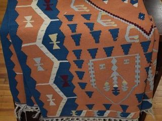 Vintage Native American Wool Blanket   47 x57