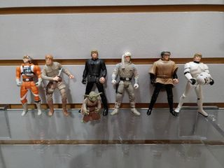 Vintage lot of 7 Star War Figures luke   Yoda   Kenner   4