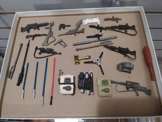 Vintage lot of 28 Star Wars Guns  Backpack  Swords   Bats   Kenner   Various Sizes