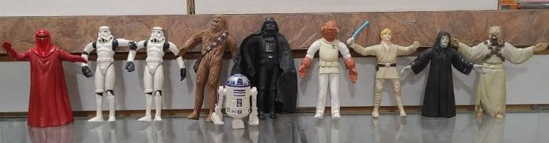 Vintage lot of 10 Star Wars Figures Darth  Storm Troopers  R2 D2   Chewbacca   Kenner   4