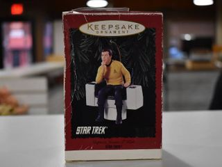Vintage Hallmark Keepsake Christmas Ornament Star Trek   Captain James T  Kirk